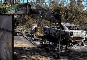 آتشسوزی گسترده در جنگلهای اسپانیا +عکس