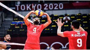 والیبال ایران در یک قدمی صعود به مرحله بعدی رقابتهای المپیک ۲۰۲۰