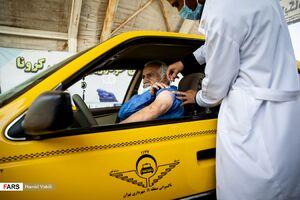 آغاز واکسیناسیون رانندگان تاکسی