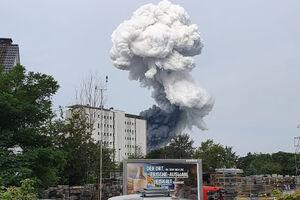 وقوع انفجار مهیب در کارخانه مواد شیمیایی