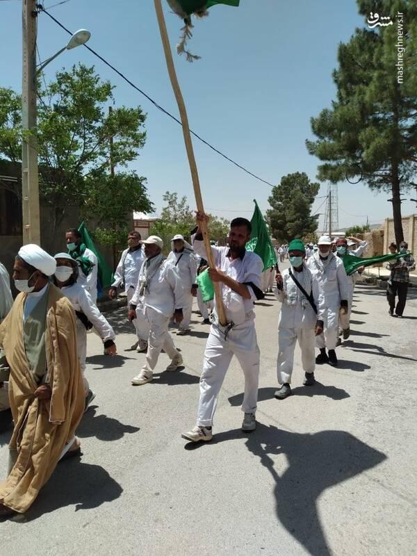 یازدهمین روز پیاده روی موکب انصارالحسین به سمت کربلا+ تصاویر