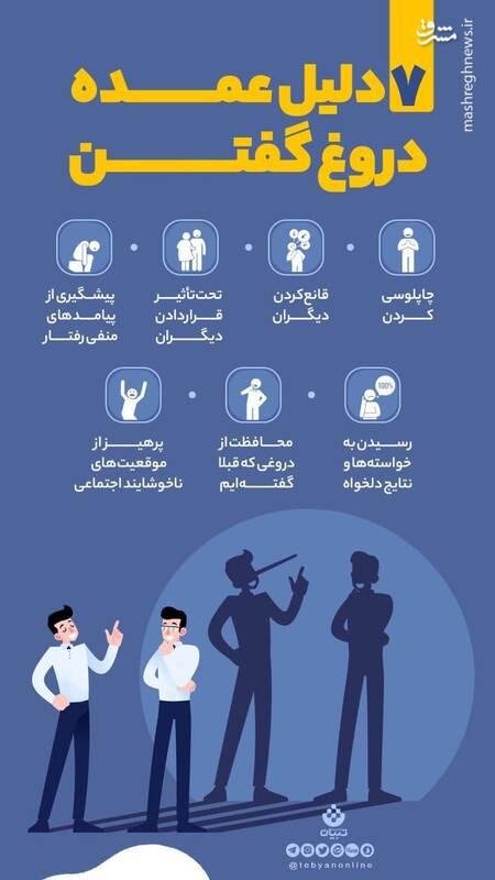 هفت دلیل عمده دروغ گفتن