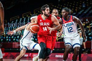 آمارهایی از شکست بسکتبال ایران برابر آمریکا