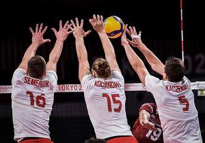 المپیک ۲۰۲۰ توکیو  پیروزی تیم ملی والیبال لهستان مقابل ونزوئلا