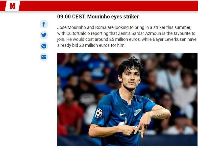 گزارش مارکا از علاقه مورینیو به سردار +عکس