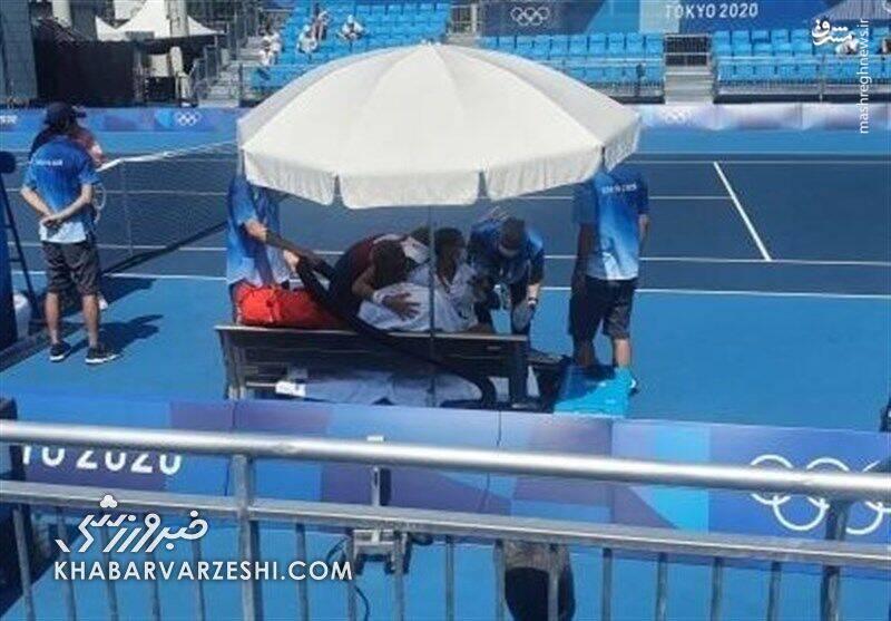 عکس/ تنیسور اسپانیایی در المپیک غش کرد