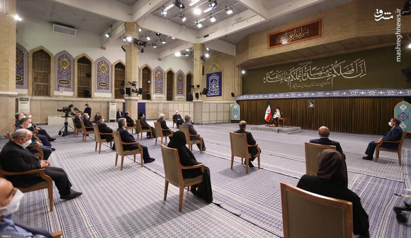 دیدار رئیسجمهور و اعضاء هیئت دولت با رهبر انقلاب اسلامی