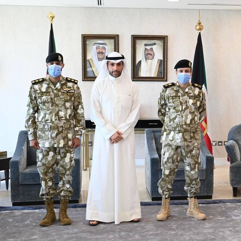 کاپیتان تیم ملی کویت سرهنگ شد +عکس