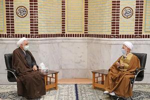 عکس/ دیدار رئیس قوه قضائیه با آیتالله جوادی آملی