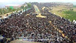 عکس/ سنگ تمام یمنیها برای عید غدیر