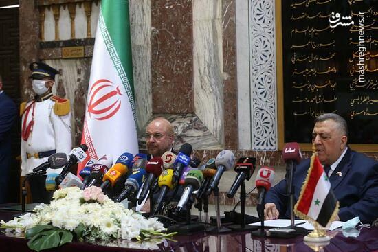 فیلم/ تاکید روسای مجالس ایران و سوریه بر گسترش همکاریها