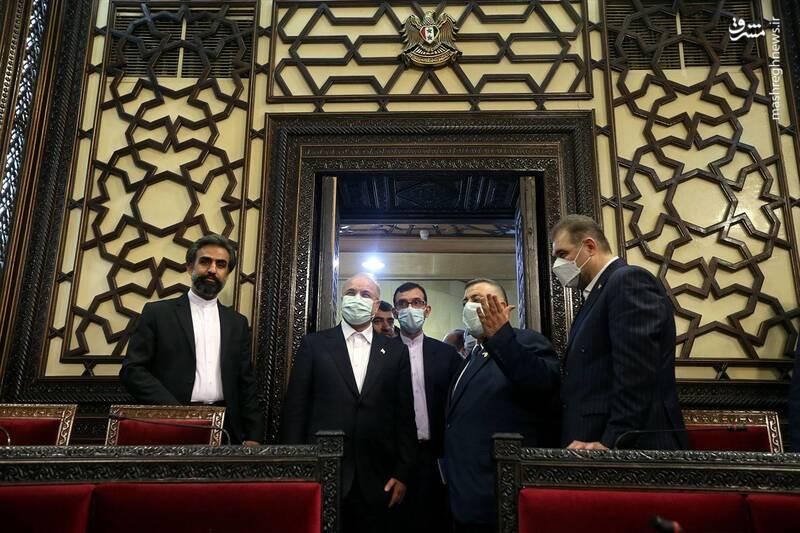 بازدید قالیباف و هیات پارلمانی ایران از پارلمان سوریه