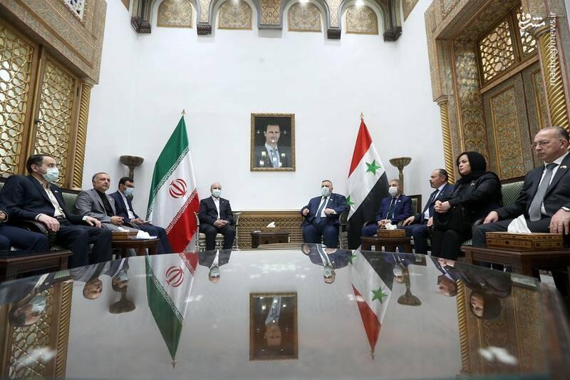 دیدار قالیباف با رئیس مجلس سوریه