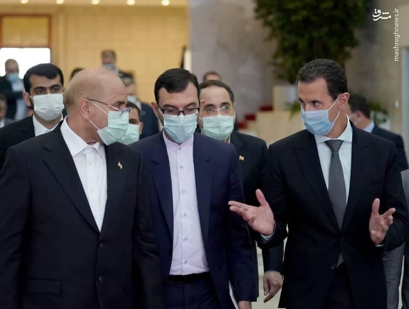 دیدار قالیباف با بشار اسد