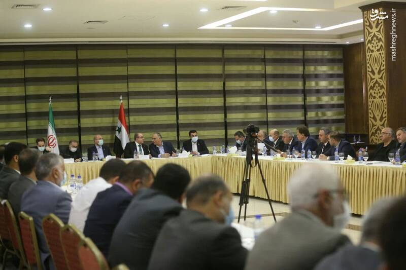 نشست بیش از ۵۰ فعال اقتصادی و تجار و بازرگانان ایرانی و سوری با دکتر قالیباف