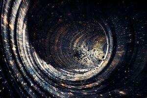 نور پشت یک سیاه چاله برای اولین بار مشاهده شد