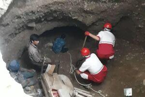 نجات 2 نفر از زیر آوار براثر فرونشست زمین در فیروزکوه