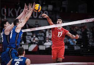 المپیک ۲۰۲۰ توکیو| صالحی؛ امتیازآورترین بازیکن ایران مقابل ایتالیا