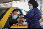 عکس/ واکسیناسیون رانندگان تاکسی و اتوبوس در شیراز