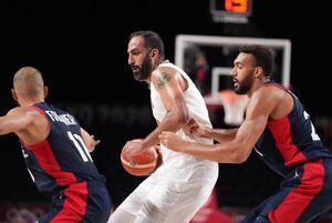 پایان کار تیم ملی بسکتبال در المپیک با شکست برابر فرانسه