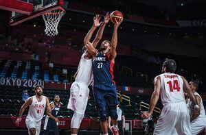 سرمربی تیم ملی بسکتبال فرانسه: حامد حدادی در ۳۶ سالگی فوقالعاده بازی میکند