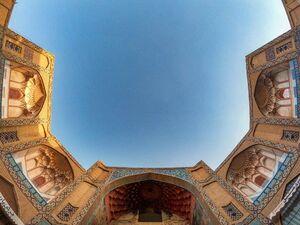 عکس/ معماری زیبای سردر بازار قیصریه اصفهان
