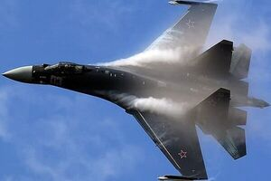 جنگنده سوخو ۳۵ روسیه سقوط کرد