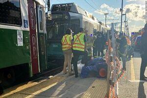 ۲۵ زخمی بر اثر برخورد ۲ قطار در ماساچوست آمریکا