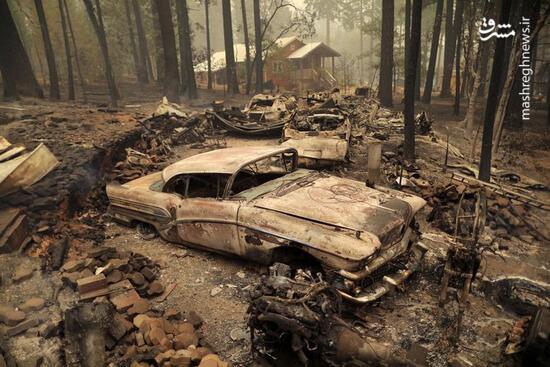 عکس/ خسارات سنگین آتش سوزی در کالیفرنیا