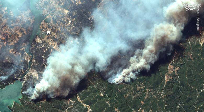 تصویر ماهوارهای از آتشسوزی در ترکیه