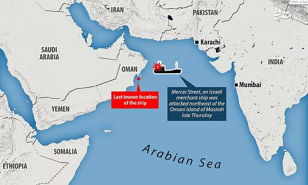 """پنجمین حمله به کشتیهای اسرائیلی در ۵ ماه اخیر/ کابوس """"تیرهای غیب"""" برای ناوگان دریایی رژیم صهیونیستی +تصاویر"""