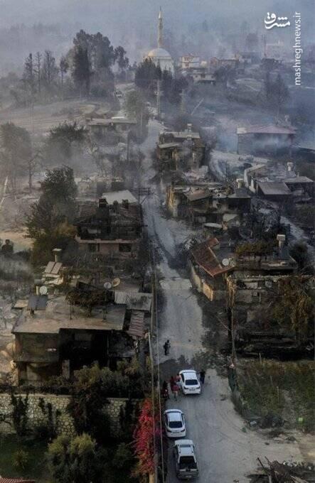 تصاویر آخرالزمانی از آتش سوزی در ترکیه