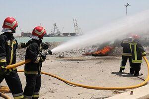 آتشسوزی جزئی در تأسیسات نفتی غرب کارون