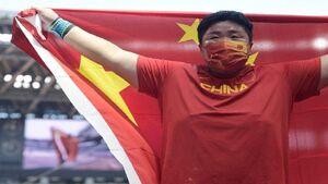 طلای المپیک پرتاب وزنه زنان به چین رسید