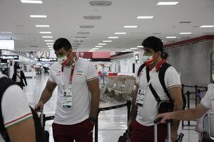 عکس/ ورود تیمهای ملی کشتی آزاد و کاراته کشورمان به توکیو