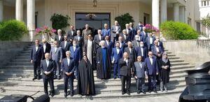 آخرین عکس یادگاری اعضای هیات دولت روحانی