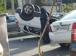 عکس/ تصادف عجیب در تهران