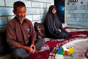 مبارزه پدر و مادر شهید با غول دوقطبی + عکس
