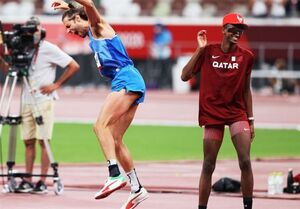 المپیک ۲۰۲۰ توکیو| داستان اولین تقسیم مدال طلا در تاریخ المپیک/ روحیه جوانمردانه پرنده قطری
