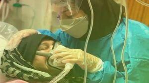 وداع تلخ پرستار بابلی با مادر مبتلا به کرونا +فیلم