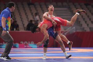 کشتی فرنگی المپیک توکیو/ برد قاطع محمدرضا گرایی مقابل کلمبیا