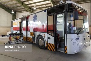 عکس/ رونمایی از اولین «اتوبوس آمبولانس» ملی