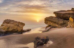 عکس/ نمایی از ساحل چابهار دریای عمان
