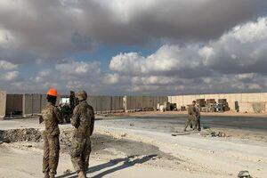تدابیر امنیتی در عین الاسد همزمان با رسیدن ۵۰۰ خودرو نظامی