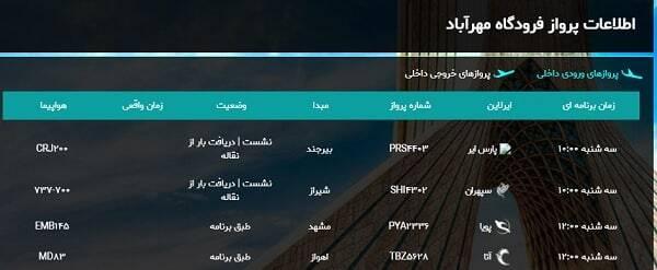 پروازهای فرودگاه مهرآباد تا ساعت ۱۲ امروز متوقف شد