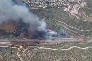 آتشسوزی گسترده در غرب قدس اشغالی
