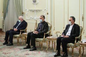 حضور حسین امیرعبداللهیان در کنار ظریف در دیدار وزیر خارجه بوسنی با رییس جمهور