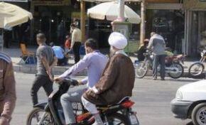 موتورسواری یک امام جمعه+ عکس
