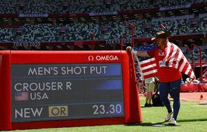 رکورد پرتاب وزنه المپیک شکسته شد
