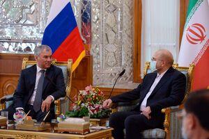 عکس/ دیدار رئیس مجلس روسیه با قالیباف